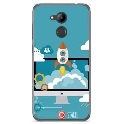 Funda Gel Tpu para Huawei Honor 6C Pro Diseño Cohete Dibujos