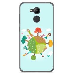 Funda Gel Tpu para Huawei Honor 6C Pro Diseño Familia Dibujos