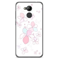 Funda Gel Tpu para Huawei Honor 6C Pro Diseño Flores Minimal Dibujos