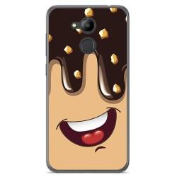 Funda Gel Tpu para Huawei Honor 6C Pro Diseño Helado Chocolate Dibujos