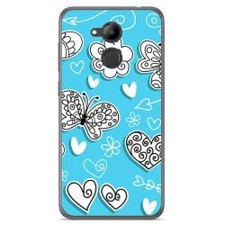 Funda Gel Tpu para Huawei Honor 6C Pro Diseño Mariposas Dibujos