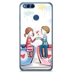 Funda Gel Tpu para Huawei Honor 7X Diseño Cafe Dibujos