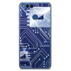 Funda Gel Tpu para Huawei Honor 7X Diseño Circuito Dibujos