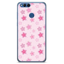 Funda Gel Tpu para Huawei Honor 7X Diseño Flores Dibujos