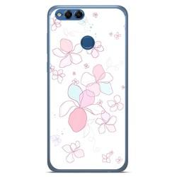 Funda Gel Tpu para Huawei Honor 7X Diseño Flores Minimal Dibujos