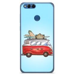 Funda Gel Tpu para Huawei Honor 7X Diseño Furgoneta Dibujos