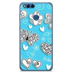 Funda Gel Tpu para Huawei Honor 7X Diseño Mariposas Dibujos