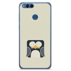 Funda Gel Tpu para Huawei Honor 7X Diseño Pingüino Dibujos