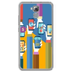 Funda Gel Tpu para Oukitel U16 Max Diseño Apps Dibujos