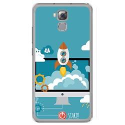 Funda Gel Tpu para Oukitel U16 Max Diseño Cohete Dibujos