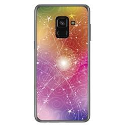 Funda Gel Tpu para Samsung Galaxy A8 (2018) Diseño Abstracto Dibujos