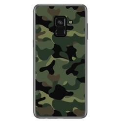 Funda Gel Tpu para Samsung Galaxy A8 (2018) Diseño Camuflaje Dibujos