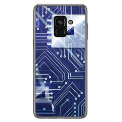 Funda Gel Tpu para Samsung Galaxy A8 (2018) Diseño Circuito Dibujos