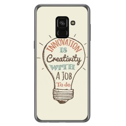 Funda Gel Tpu para Samsung Galaxy A8 (2018) Diseño Creativity Dibujos