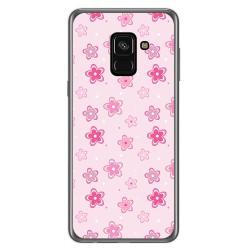 Funda Gel Tpu para Samsung Galaxy A8 (2018) Diseño Flores Dibujos