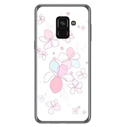 Funda Gel Tpu para Samsung Galaxy A8 (2018) Diseño Flores Minimal Dibujos