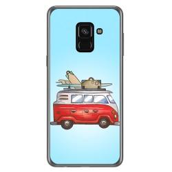 Funda Gel Tpu para Samsung Galaxy A8 (2018) Diseño Furgoneta Dibujos