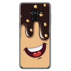 Funda Gel Tpu para Samsung Galaxy A8 (2018) Diseño Helado Chocolate Dibujos