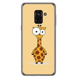 Funda Gel Tpu para Samsung Galaxy A8 (2018) Diseño Jirafa Dibujos