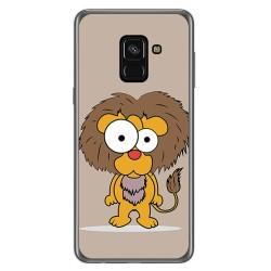 Funda Gel Tpu para Samsung Galaxy A8 (2018) Diseño Leon Dibujos
