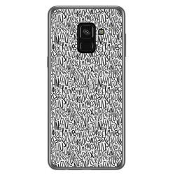 Funda Gel Tpu para Samsung Galaxy A8 (2018) Diseño Letras Dibujos