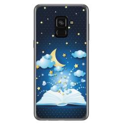 Funda Gel Tpu para Samsung Galaxy A8 (2018) Diseño Libro Cuentos Dibujos