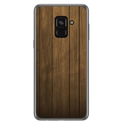 Funda Gel Tpu para Samsung Galaxy A8 (2018) Diseño Madera Dibujos