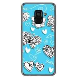 Funda Gel Tpu para Samsung Galaxy A8 (2018) Diseño Mariposas Dibujos