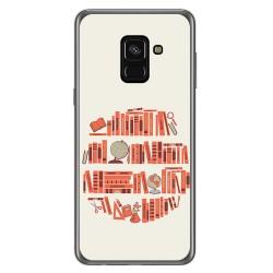 Funda Gel Tpu para Samsung Galaxy A8 (2018) Diseño Mundo Libro Dibujos