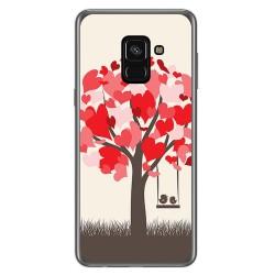 Funda Gel Tpu para Samsung Galaxy A8 (2018) Diseño Pajaritos Dibujos