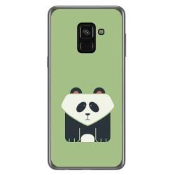 Funda Gel Tpu para Samsung Galaxy A8 (2018) Diseño Panda Dibujos