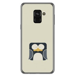 Funda Gel Tpu para Samsung Galaxy A8 (2018) Diseño Pingüino Dibujos