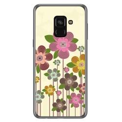 Funda Gel Tpu para Samsung Galaxy A8 (2018) Diseño Primavera En Flor Dibujos