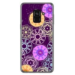 Funda Gel Tpu para Samsung Galaxy A8 (2018) Diseño Radial Dibujos