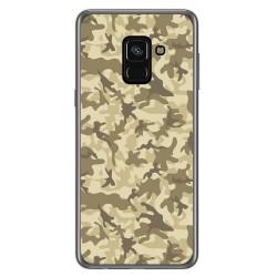 Funda Gel Tpu para Samsung Galaxy A8 (2018) Diseño Sand Camuflaje Dibujos