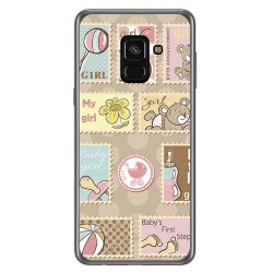 Funda Gel Tpu para Samsung Galaxy A8 (2018) Diseño Sellos Dibujos