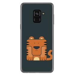Funda Gel Tpu para Samsung Galaxy A8 (2018) Diseño Tigre Dibujos
