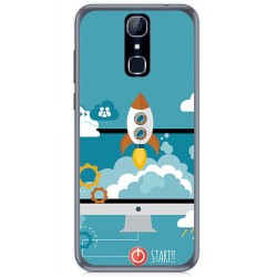 Funda Gel Tpu para Cubot X18 Diseño Cohete Dibujos