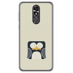 Funda Gel Tpu para Cubot R9 Diseño Pingüino Dibujos