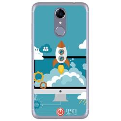 Funda Gel Tpu para Cubot Note Plus Diseño Cohete Dibujos