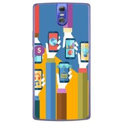 Funda Gel Tpu para Doogee Bl7000 Diseño Apps Dibujos
