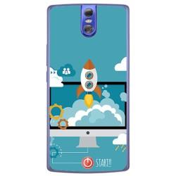 Funda Gel Tpu para Doogee Bl7000 Diseño Cohete Dibujos