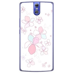Funda Gel Tpu para Doogee Bl7000 Diseño Flores Minimal Dibujos