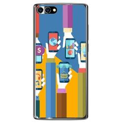 Funda Gel Tpu para Homtom S9 Plus Diseño Apps Dibujos