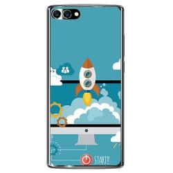 Funda Gel Tpu para Homtom S9 Plus Diseño Cohete Dibujos