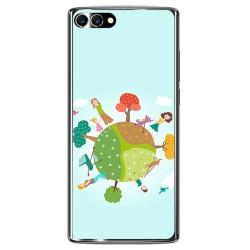 Funda Gel Tpu para Homtom S9 Plus Diseño Familia Dibujos
