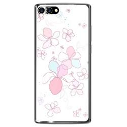 Funda Gel Tpu para Homtom S9 Plus Diseño Flores Minimal Dibujos