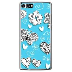 Funda Gel Tpu para Homtom S9 Plus Diseño Mariposas Dibujos