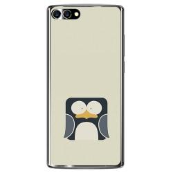 Funda Gel Tpu para Homtom S9 Plus Diseño Pingüino Dibujos