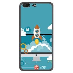 Funda Gel Tpu para Leagoo T5 Diseño Cohete Dibujos